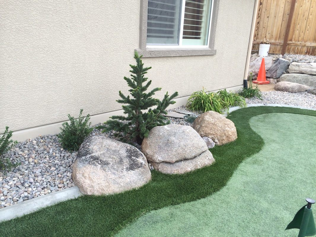 Reno, NV backyard design by landscape contractors
