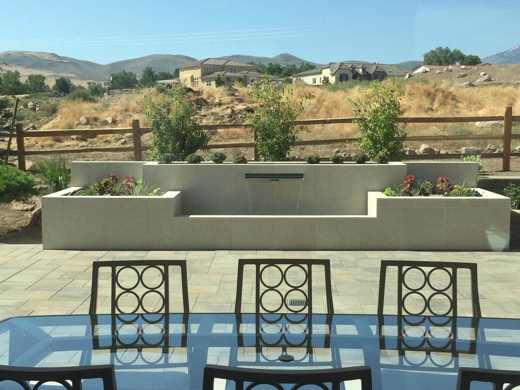 Stunning retaining wall landscape design in Reno, NV