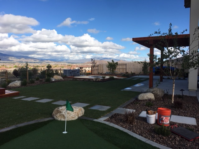 Shade structures including pergola in Reno, NV