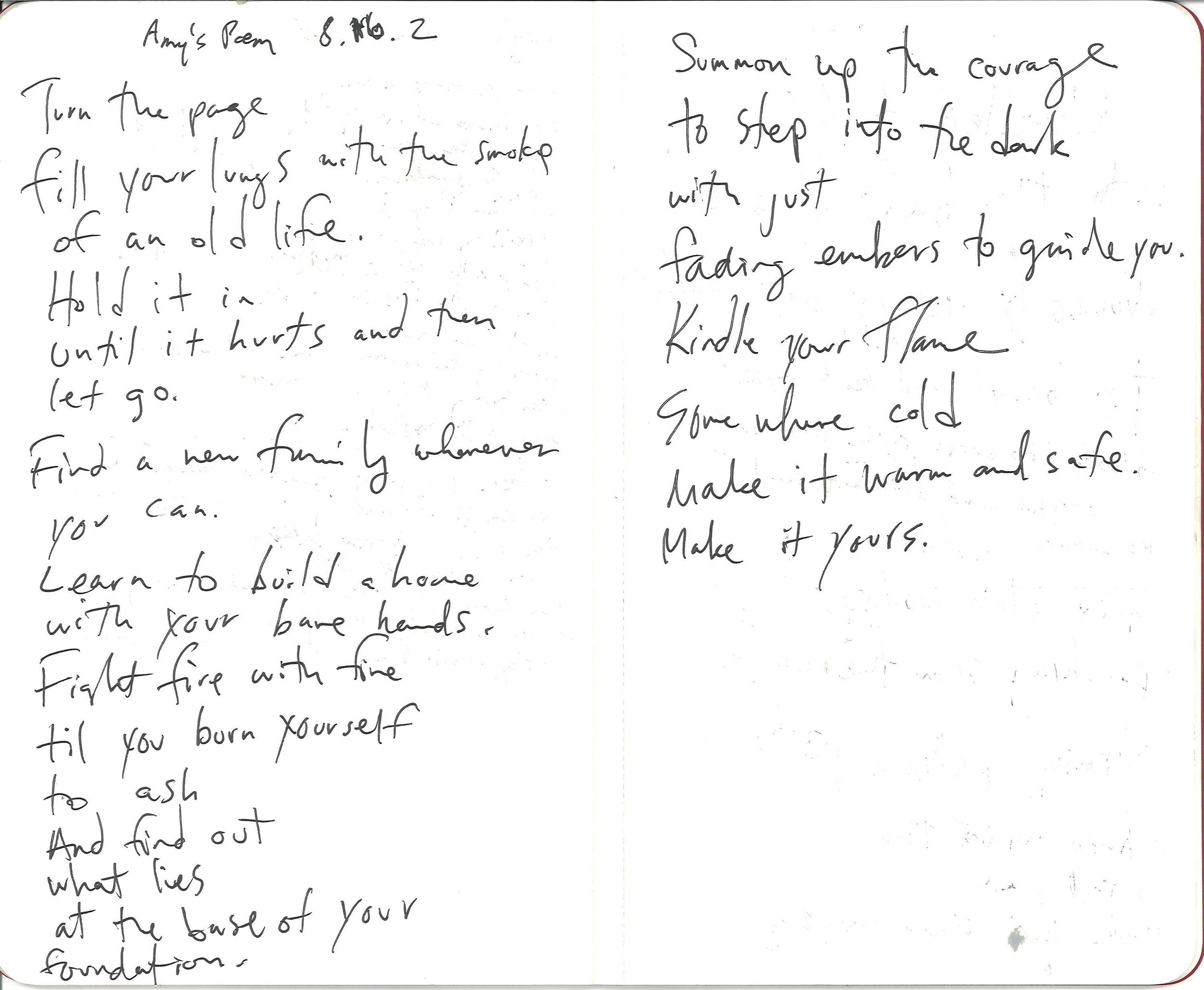 Dictated by Amy, transcribed by Reg
