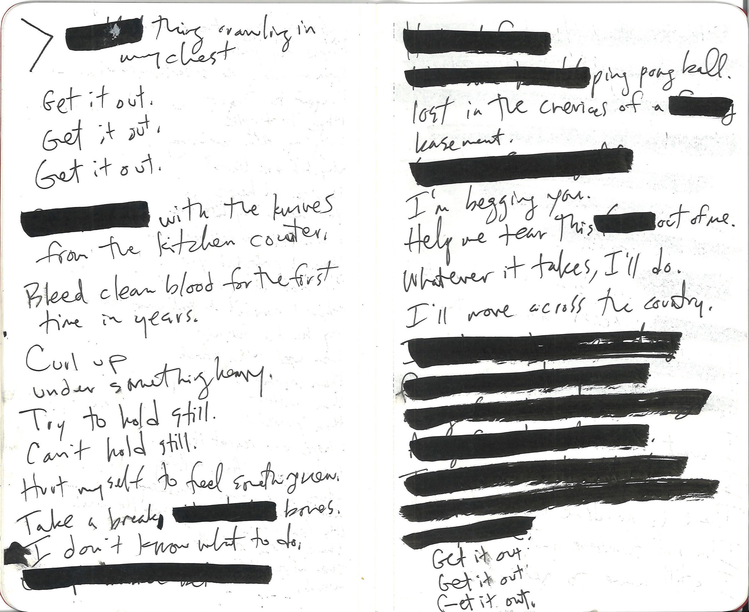 Page one of two. Dictated by Amy, transcribed and redacted by Reg.