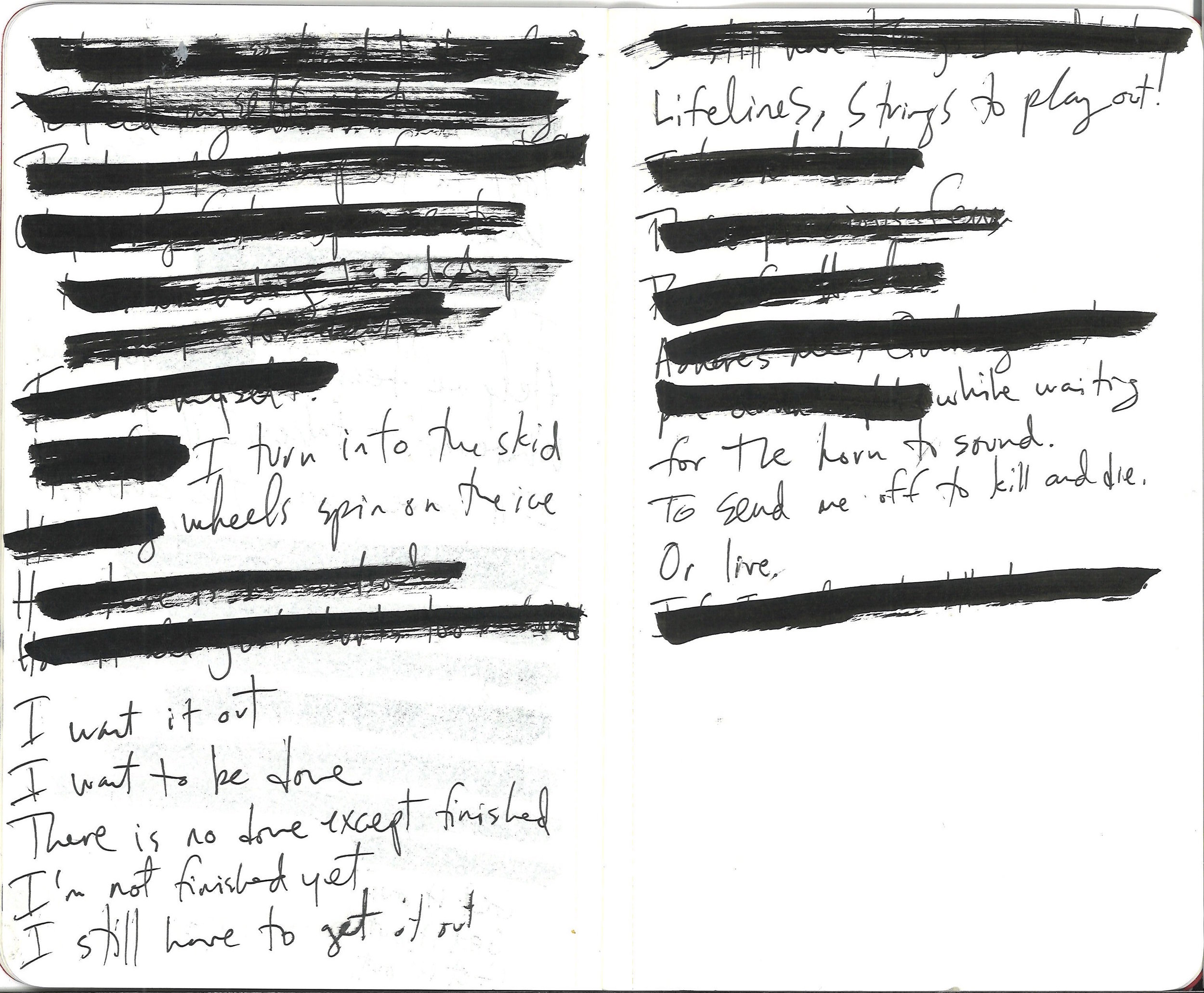 Page two of two. Dictated by Amy, transcribed and redacted by Reg.