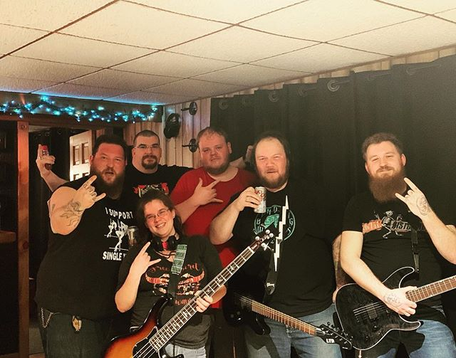 We had such an amazing experience yesterday recording our demo with John Bradley at @bluvuduproductions. We cannot thank that man enough 🤘🏼 #slightlyused #slightlyusedvt #bluvuduproductions #burlingtonvt #burlingtonmusic #plattsburghny