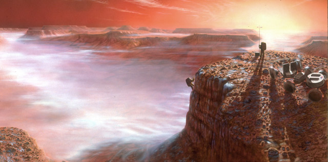 First Light  -  Artist   Pat Rawlings - Copyright NASA