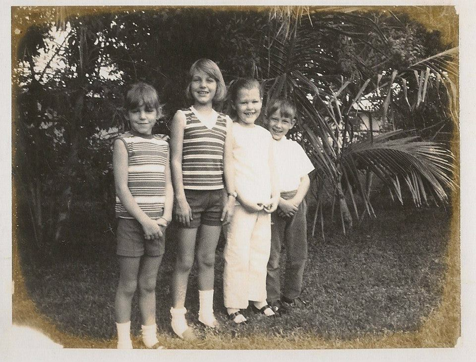 "Suzanne, Serena, Sheri, and Mikey—Miami, FL circa 1970   From Chapter 5: ""Barbies and Broken Bones"""