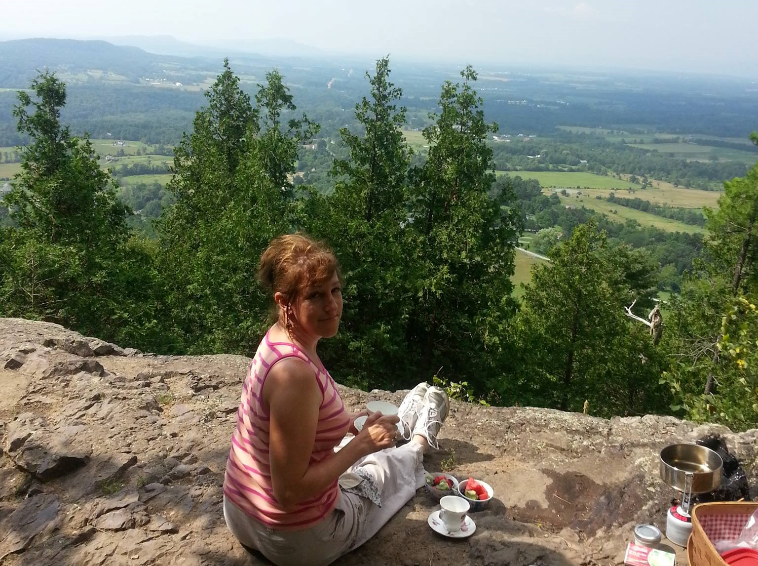 "Breakfast on Mt. Philo   From Chapter 18: ""Runaway Breakfast"""