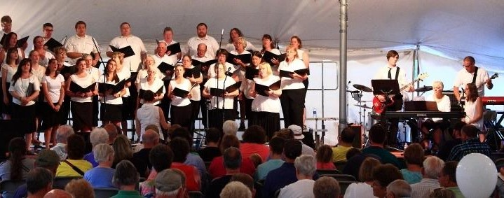 The Addison County Gospel Choir performing at the fair.
