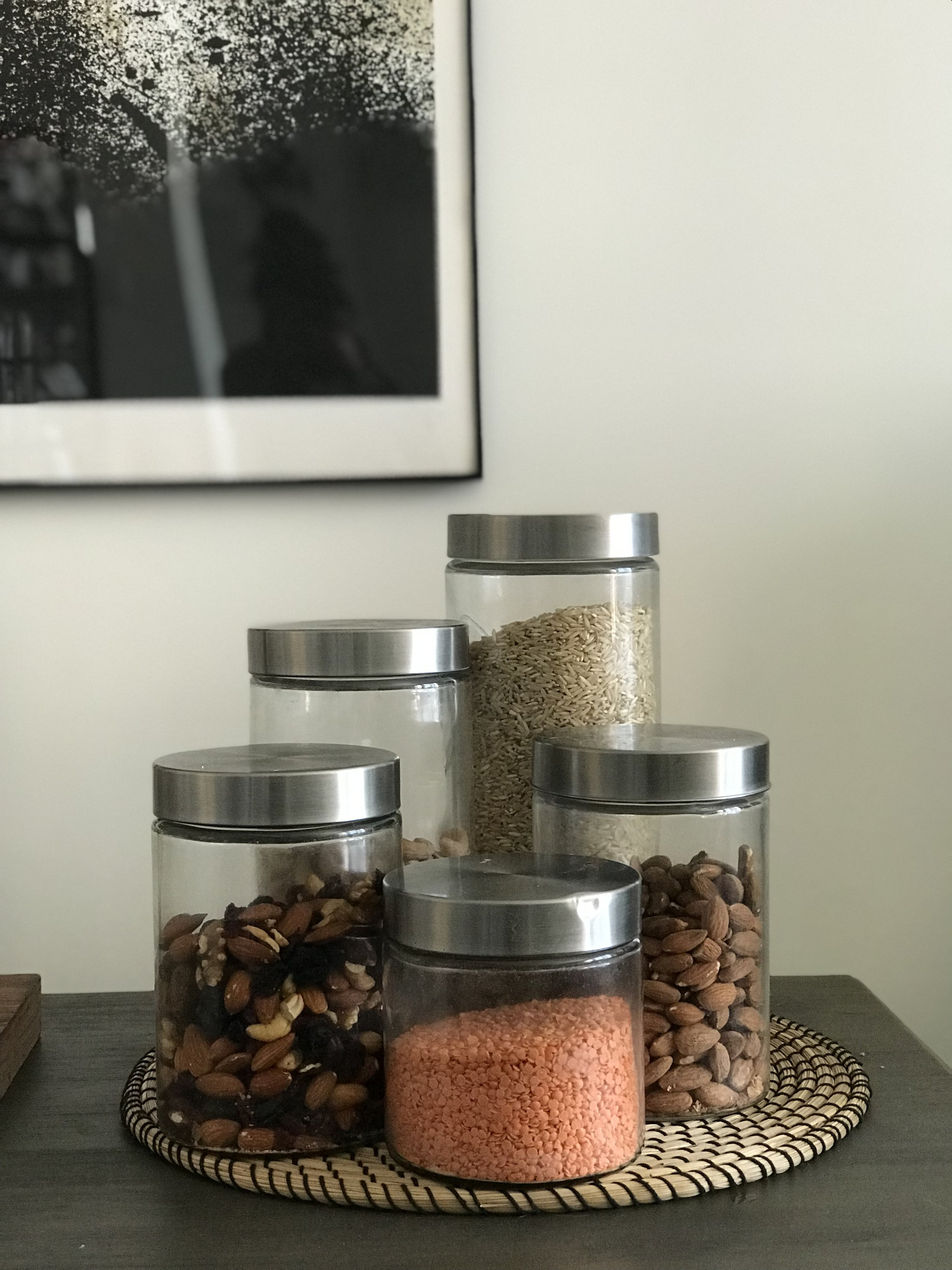 Glass containers purchased from Target
