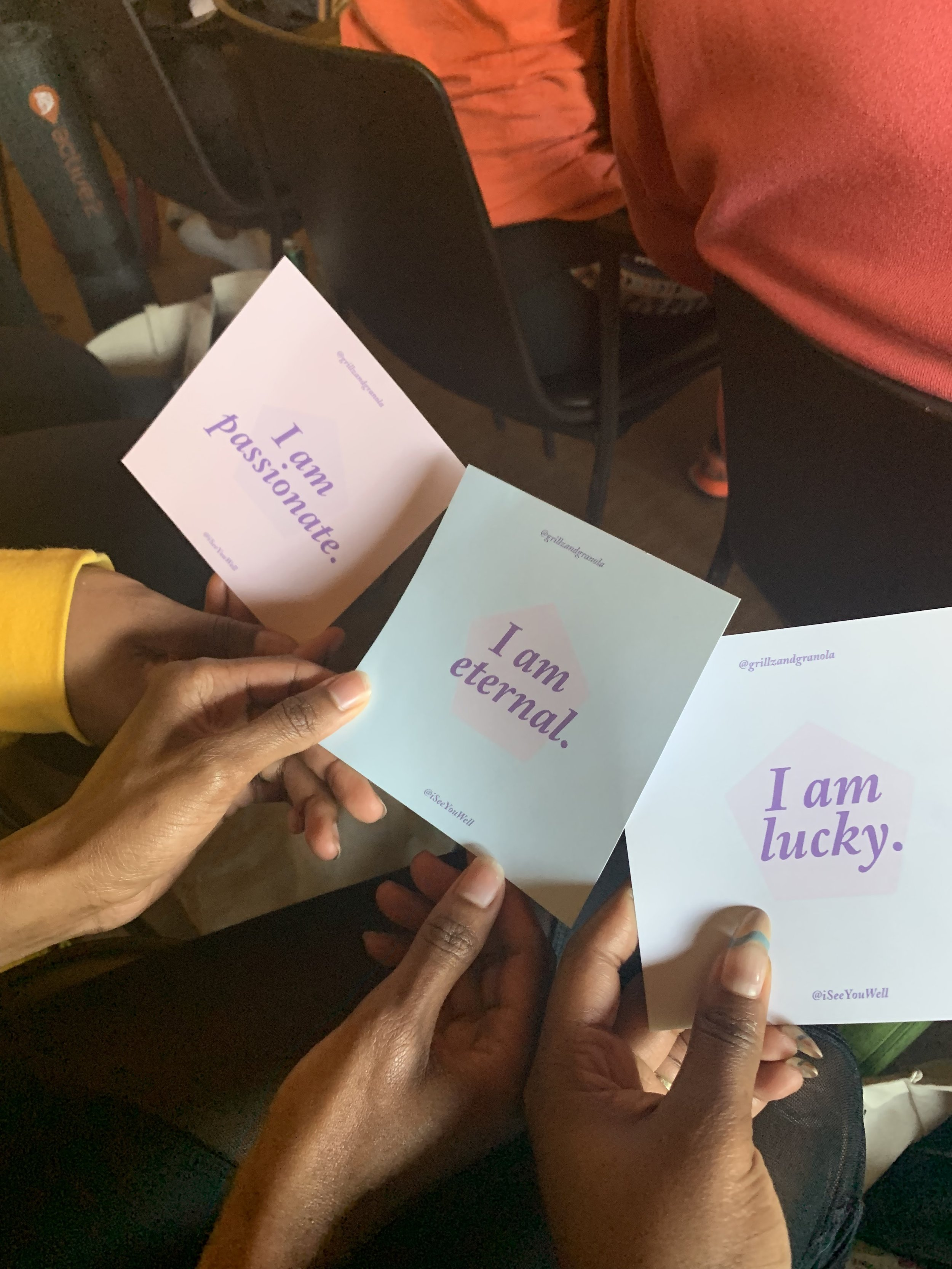Our affirmation cards given out at the start of Zen Day. Photo Credit:  IG: @simply.savonne
