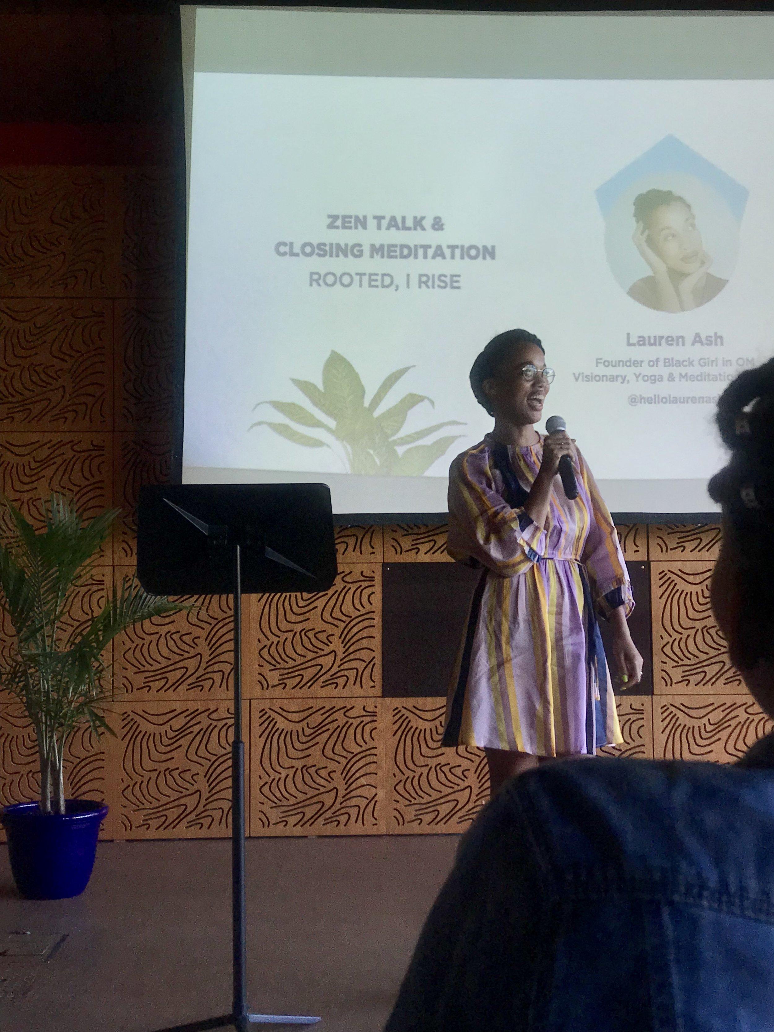 Lauren Ash, founder of Black girl in OM