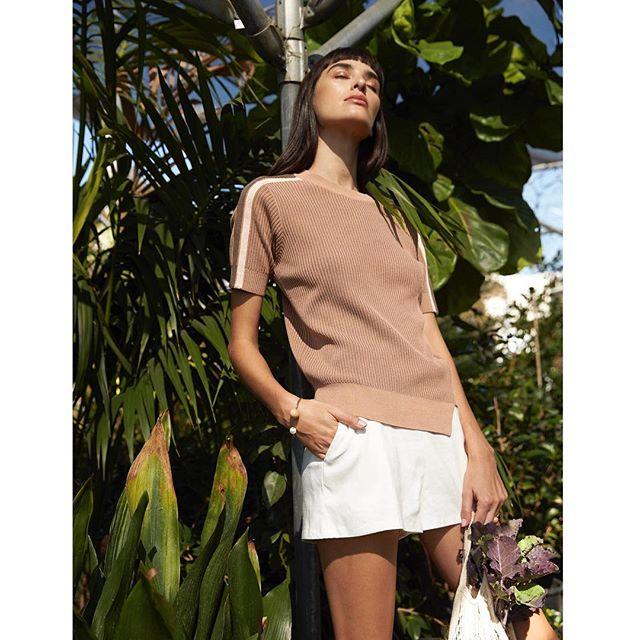 Easy Sporty Chic 🎾 featuring the Watts Top in Beige Multi . . . . . . . . #SS19 #spring2019 #knitwear #fashion #lookbook #ootd #kerisma #lovemykerisma