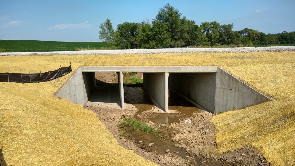Completed Triple Box Culvert