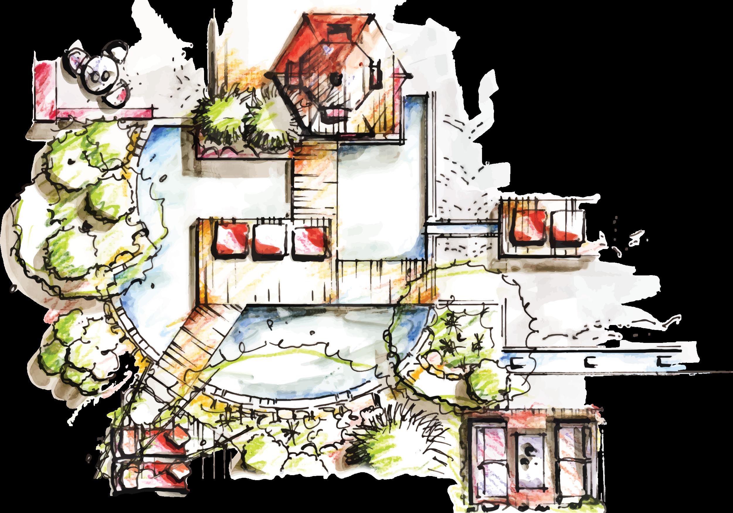 Inspiration Garden Design Sketch