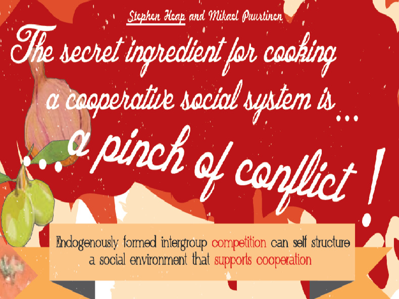 The Secret Ingredient for Cooking a Cooperative Social System is...