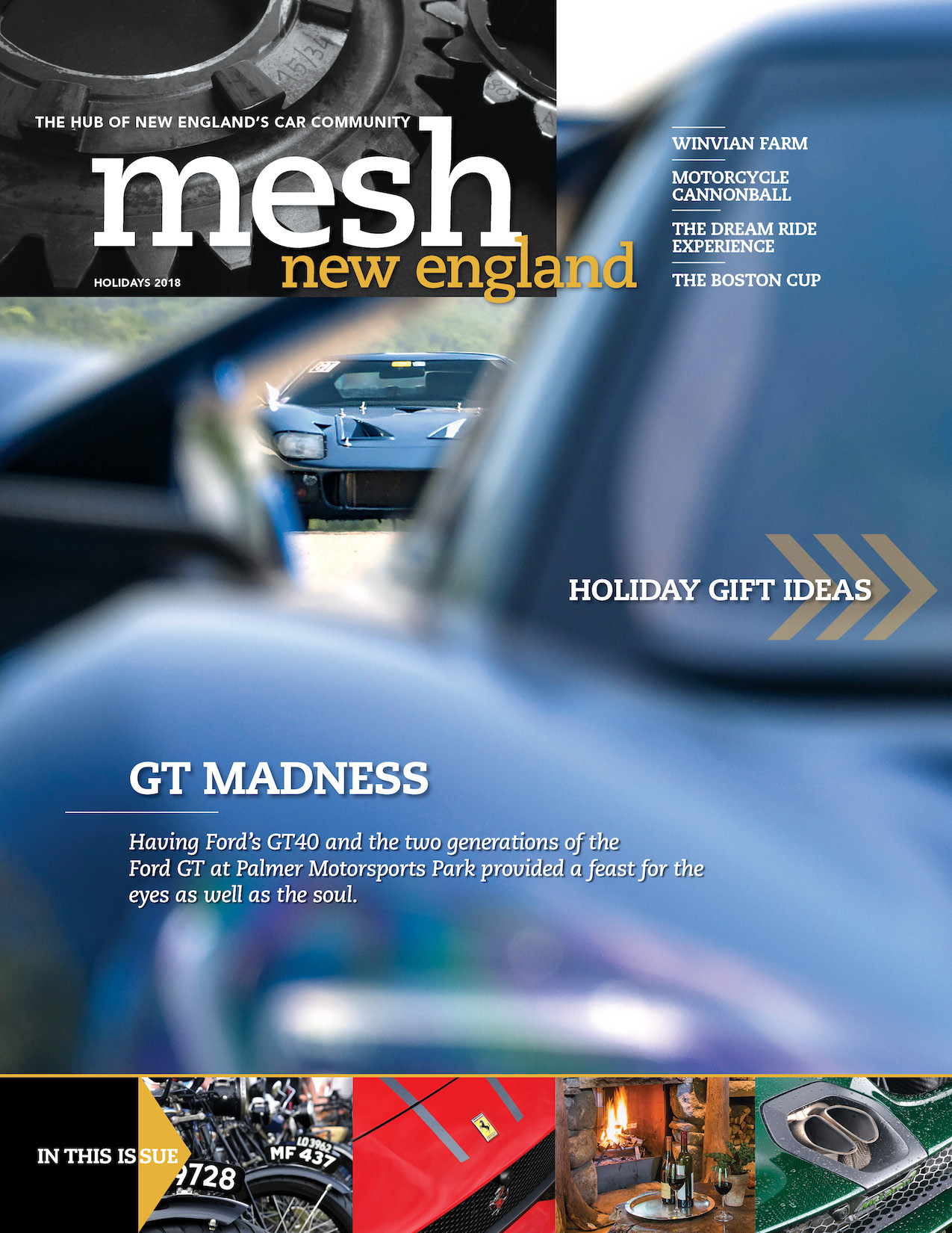 Holiday 2018 Cover of mesh New England Magazine Blue ford GT40 pictured on front.jpg