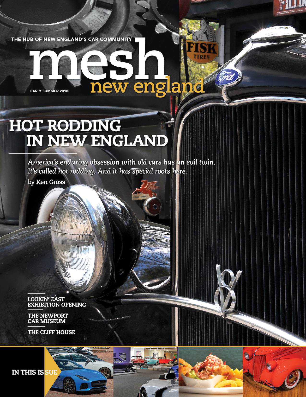 Early Summer 2018 cover of Mesh New England Magazine with Ford hot rod pictured.jpg