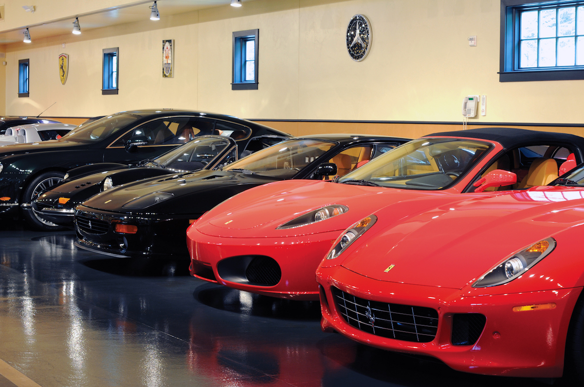 sports cars lined up in car barn.jpg