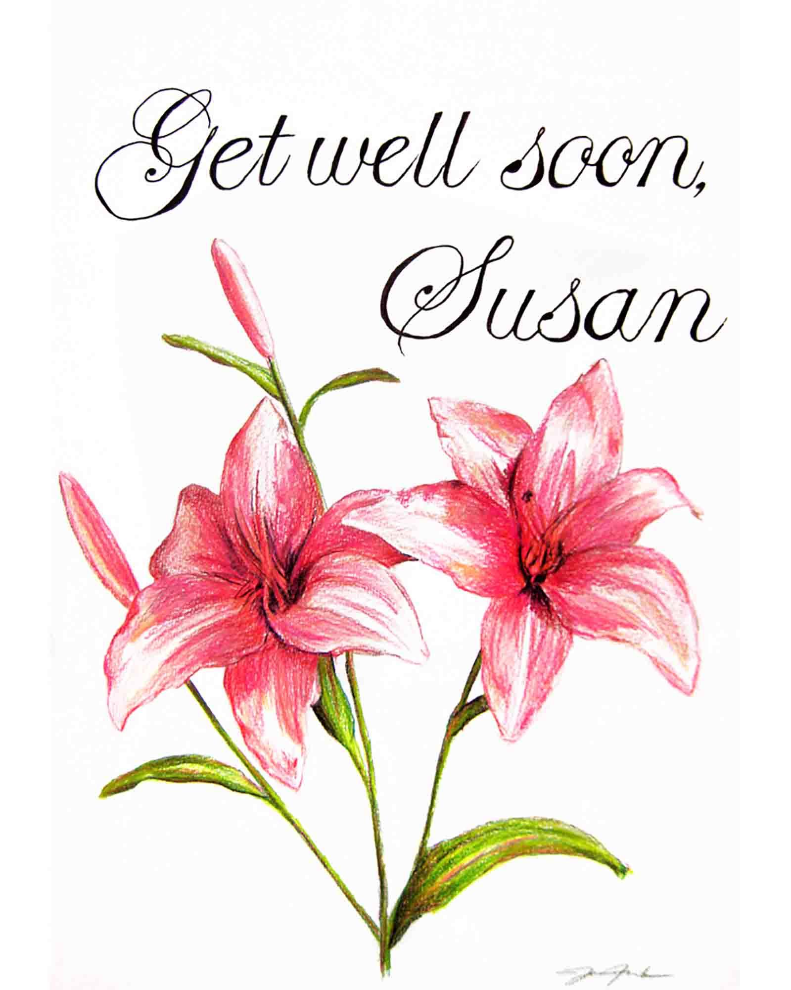 Susan's Get Well card