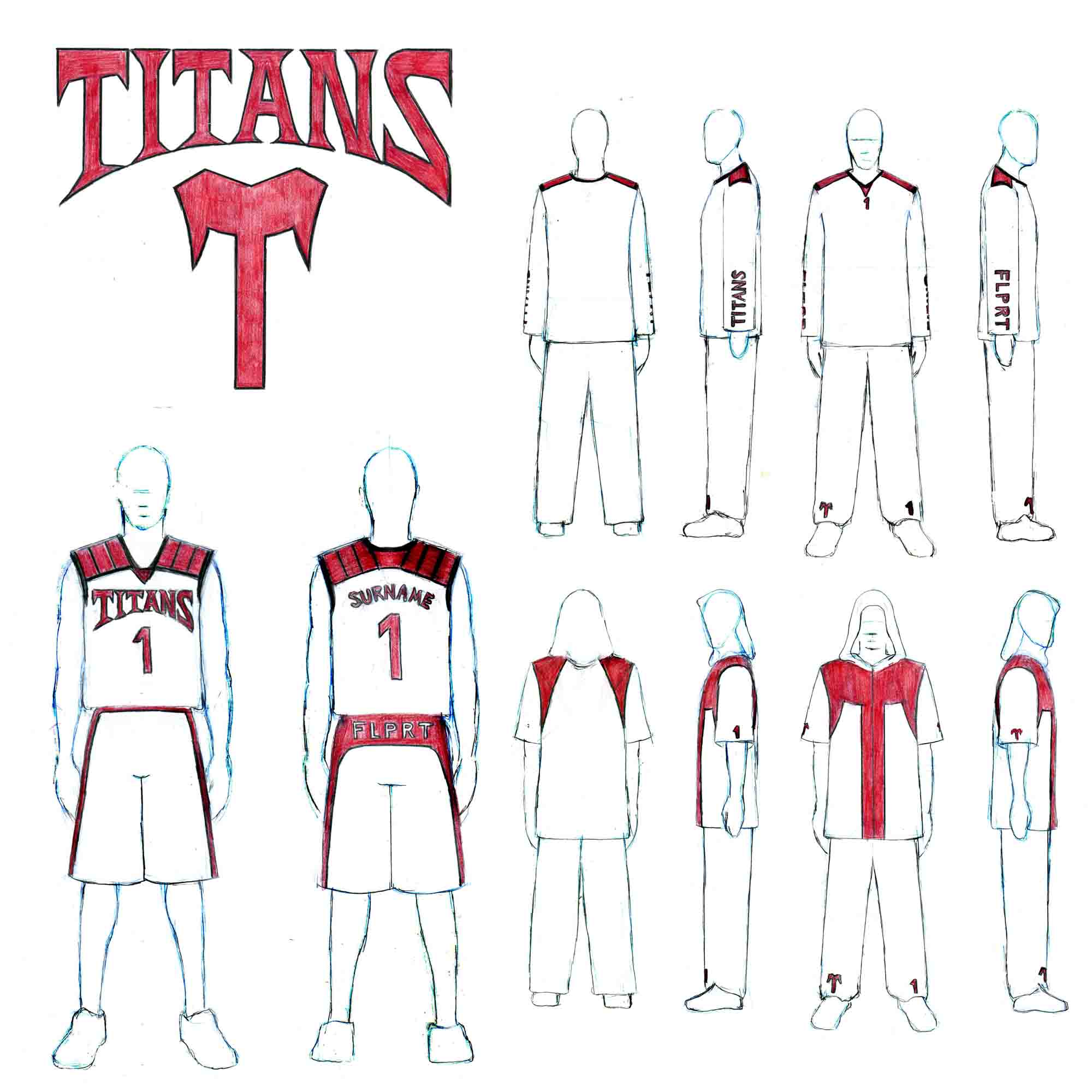 Titans basketball team - logo/apparell design