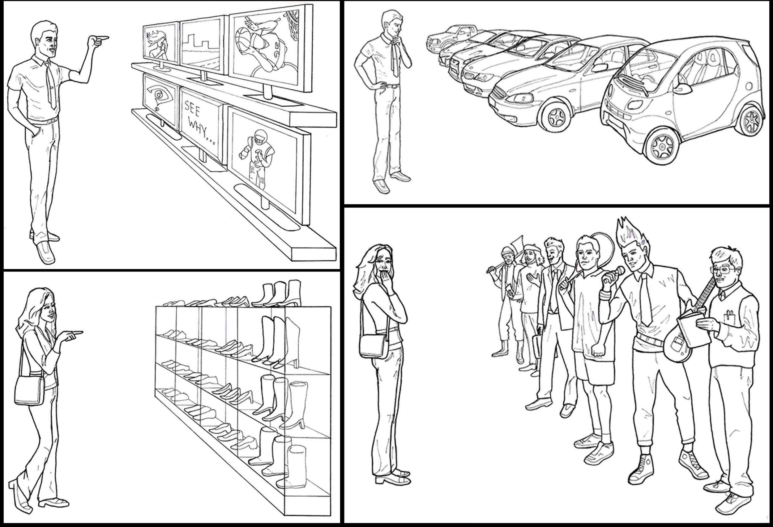 Conquerlove . com advertising illustrations - Decisions