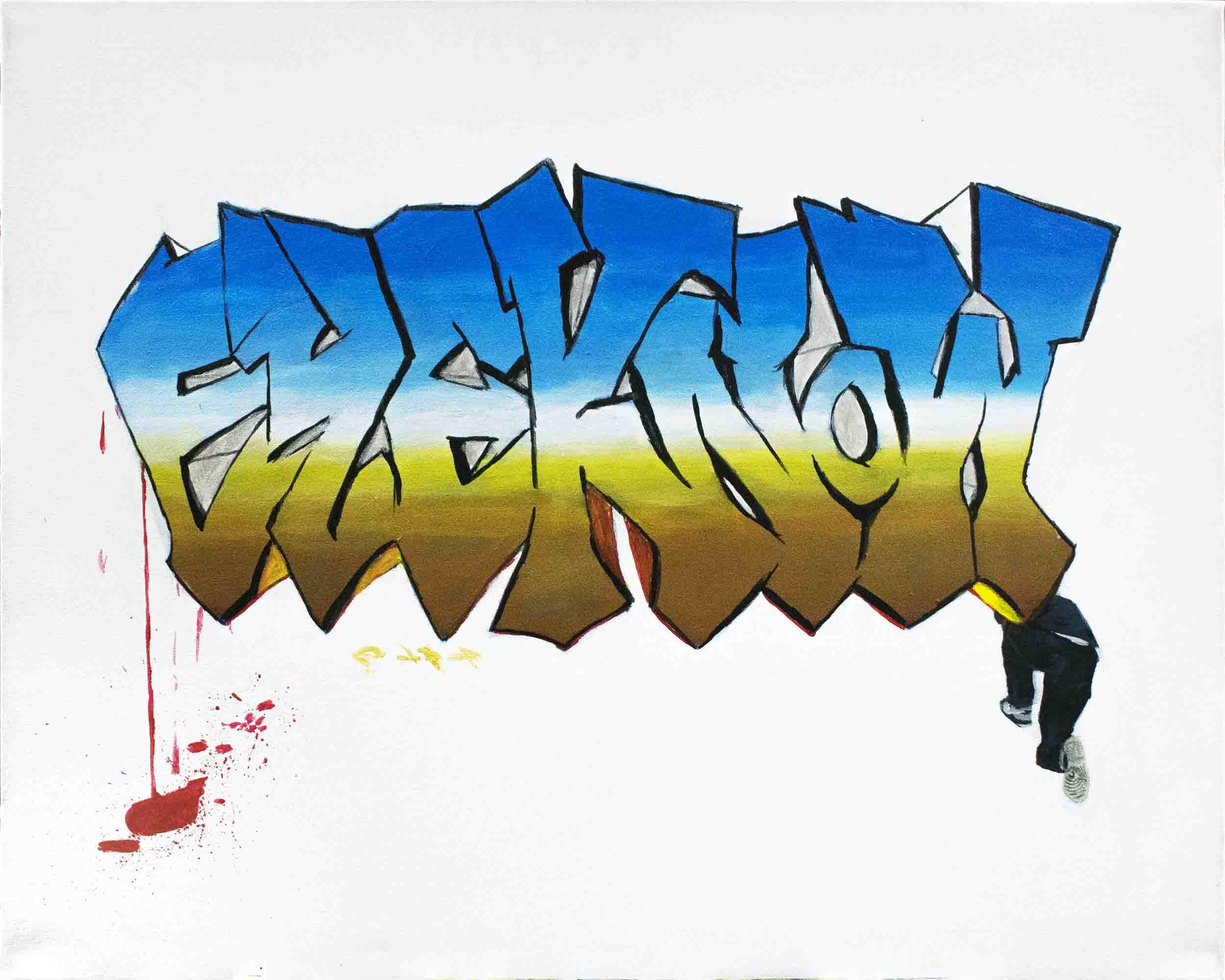 Super-Saturated pseudo-Graffiti - back