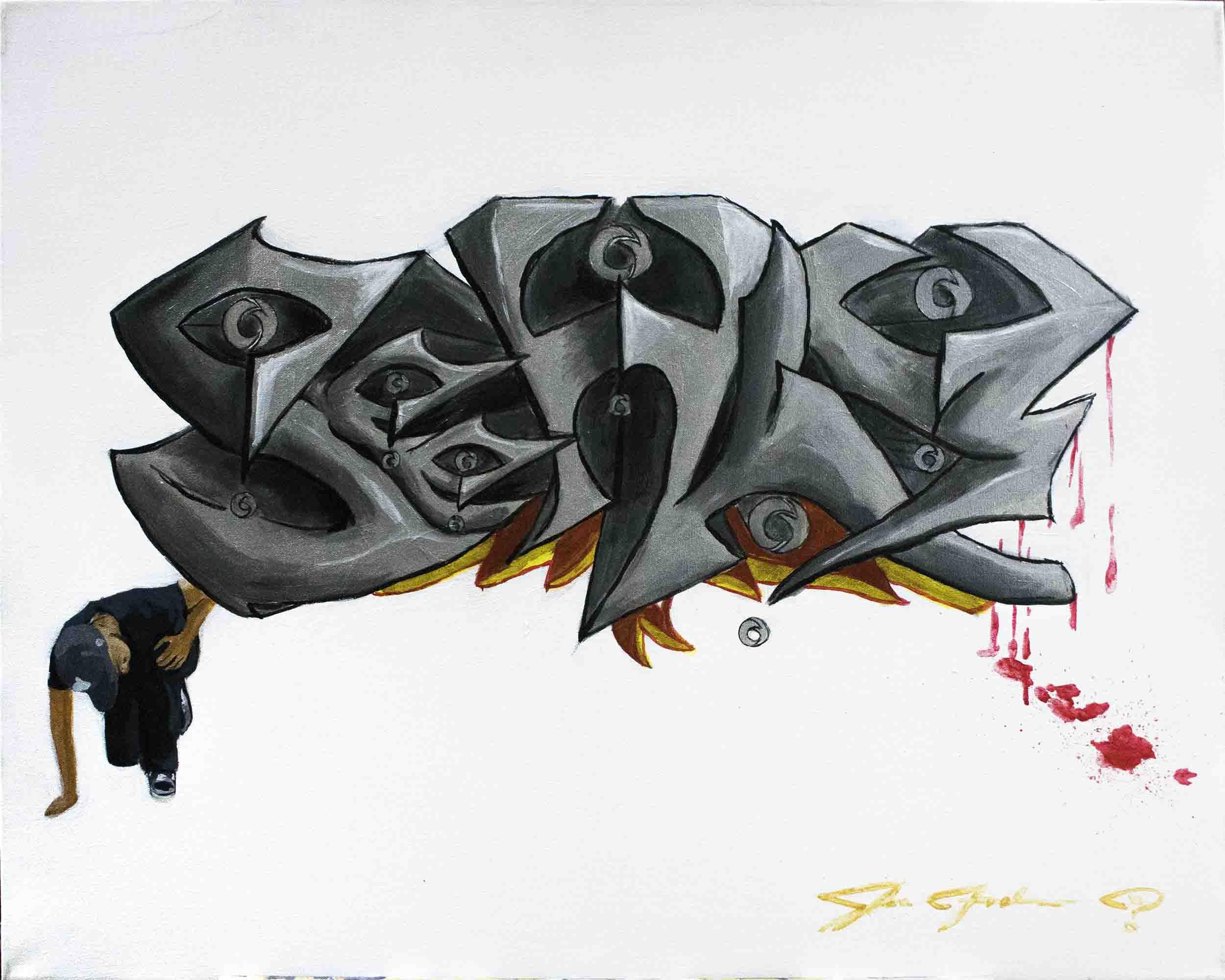 Super-Saturated pseudo-Graffiti - front