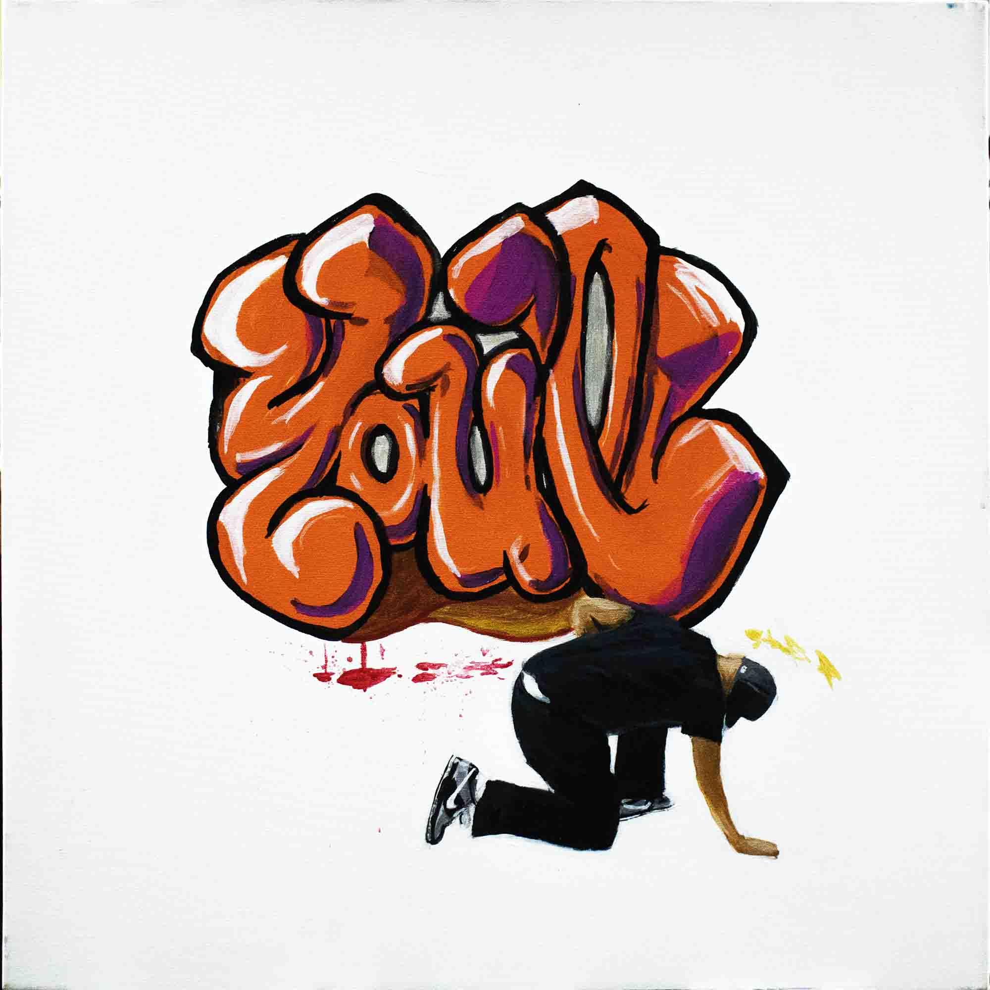 Super-Saturated pseudo-Graffiti - left