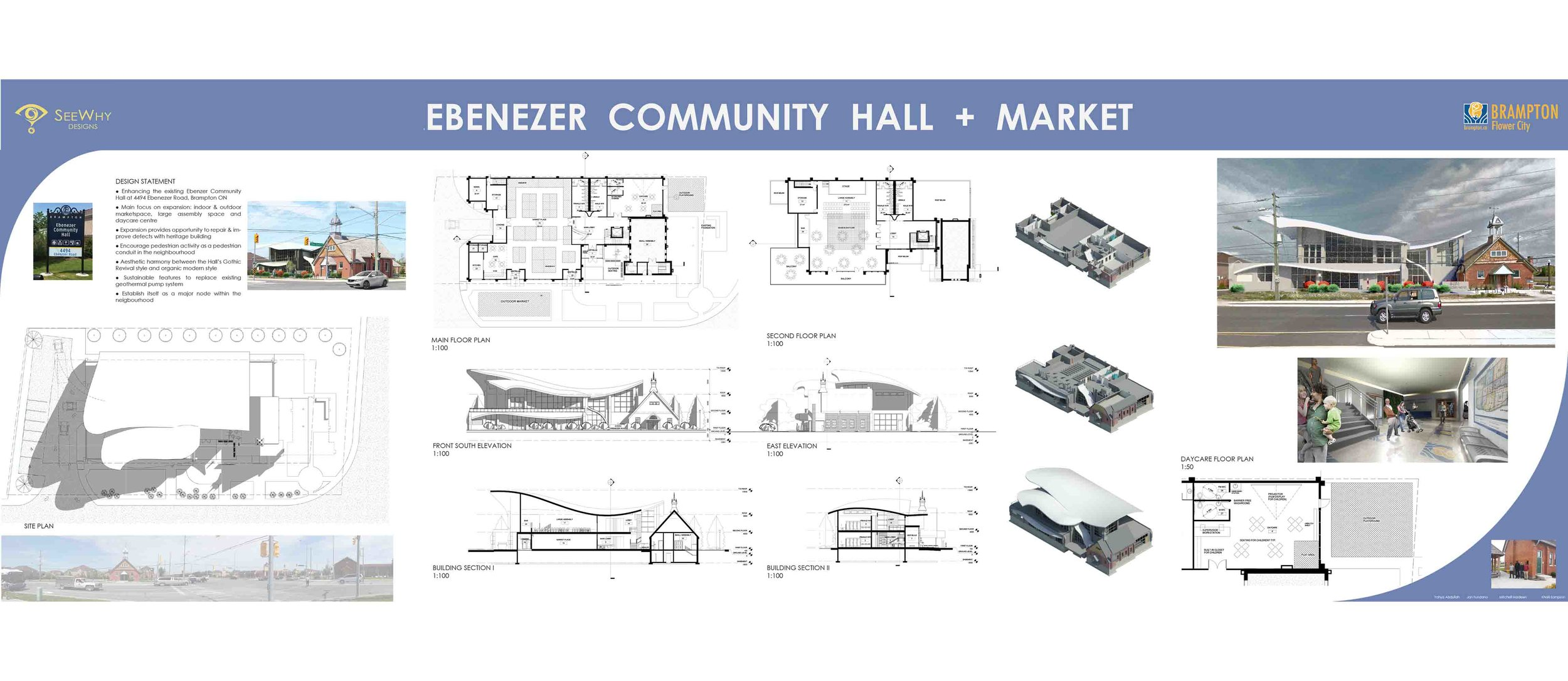 The Ebenezer Community Hall + Market studio design project