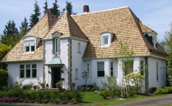 Cedar Roof Replacement - Taper-Sawn Shakes, Perfection Shingles