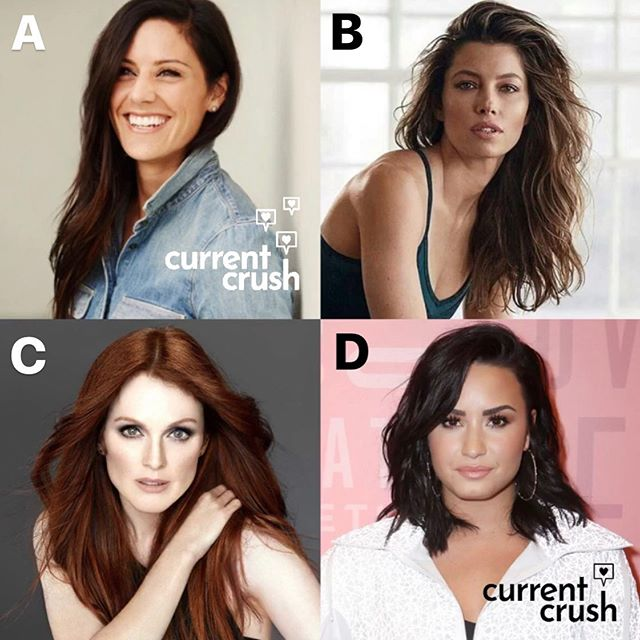 Last night, we recorded an episode about celebrity crushes — here's a little sneak peek in the form of a quiz: who do you think was each of our crush? Match one letter to each of us @seethestarsablaze @court_rhodes @brionajenkins @theyolobandit • A. @alikrieger B. @jessicabiel C. @juliannemoore D. @ddlovato • Comment below who from the @queerforit crew you think is crushing on each of these lovely ladies! (There were tons more crushes discussed, including a couple dudes, but we picked our top lady crushes for this quiz 🤓) • Make sure to tune in for our latest episode coming out by the end of the week, and then for the celeb crush episode after that! 💕