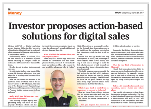 SalesCandy™ CEO Stanley Chee Featured on Malay Mail