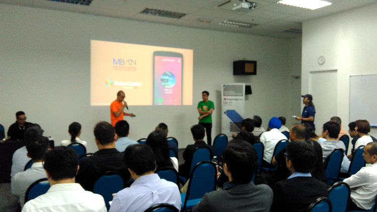 SalesCandy™ founders Stanley Chee and Jeff Chan pitching at the MBAN Angel in The City (AITC) JUNE pitch session for year 2017 on June 22nd.