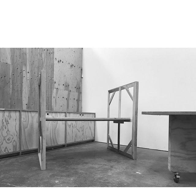 made a table with stretcher-bar legs @blankartobjects @mcevoyarts