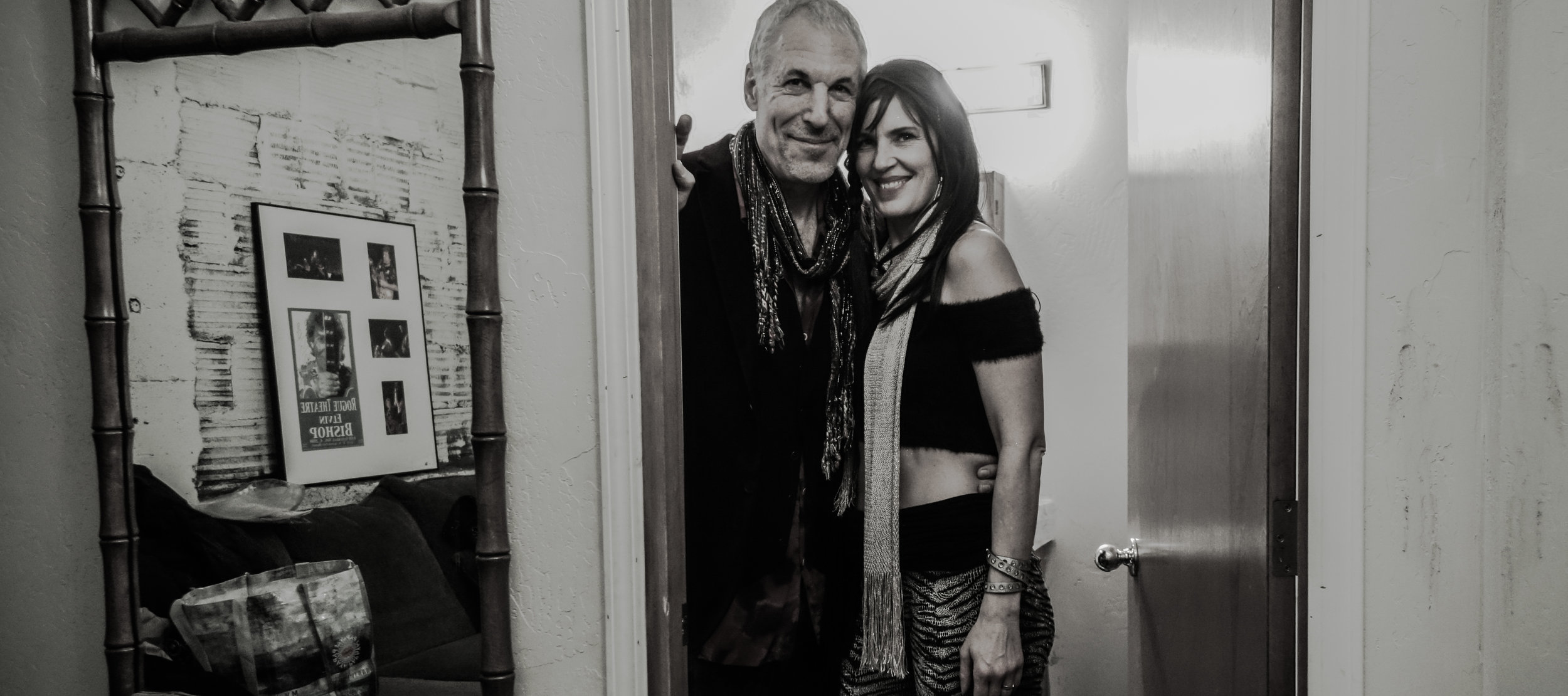 Jeff & Inger ZEPDRIX pre-show backstage at The Rogue Theater