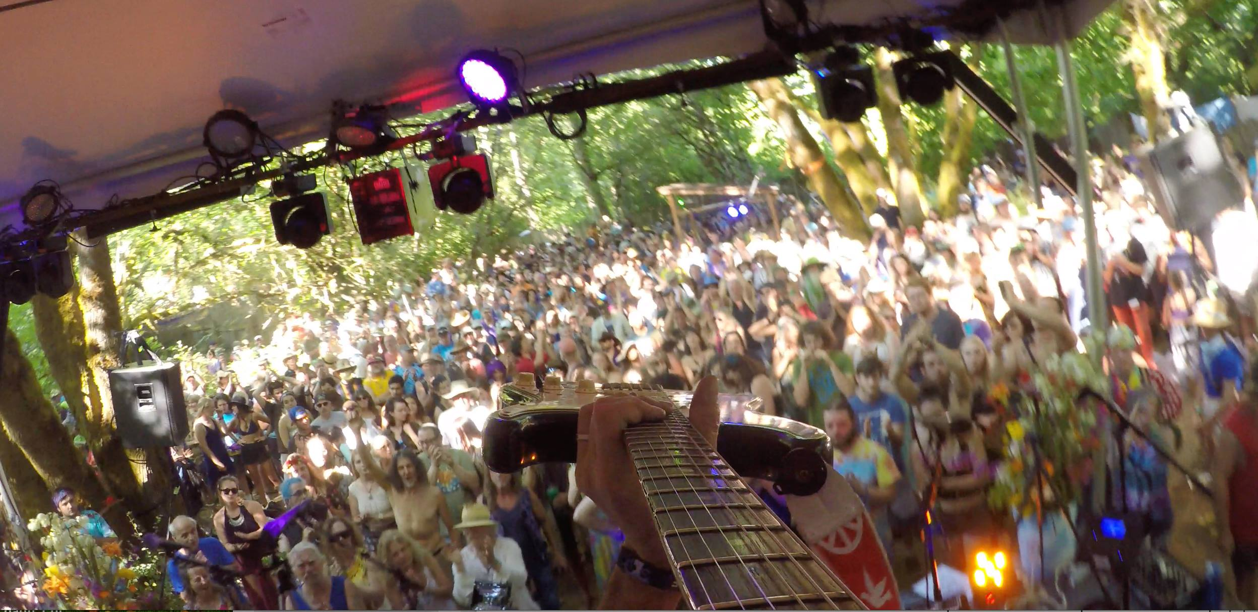 Jeff's Guitar with ZEPDRIX at the iconic Oregon Country Fair