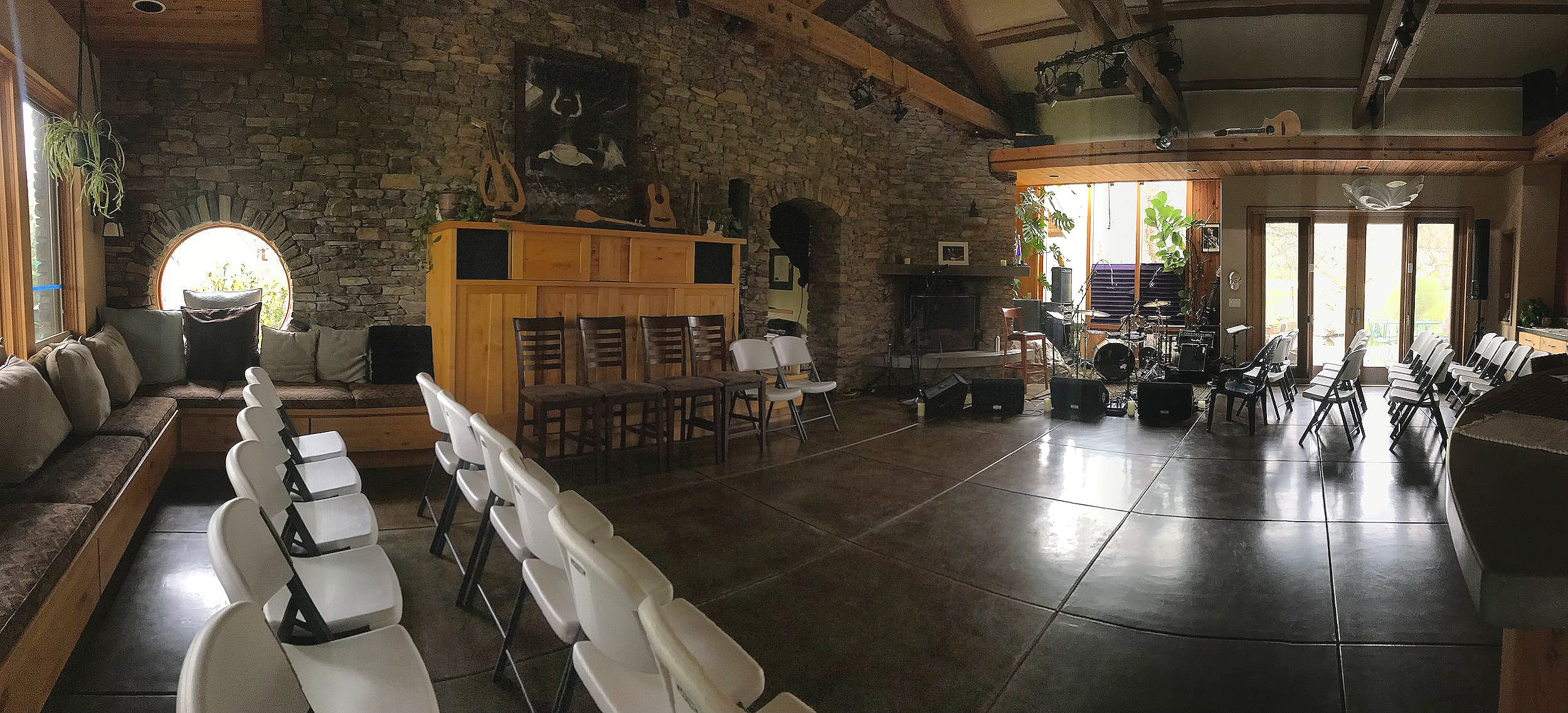 The Stone House set for a dance night!