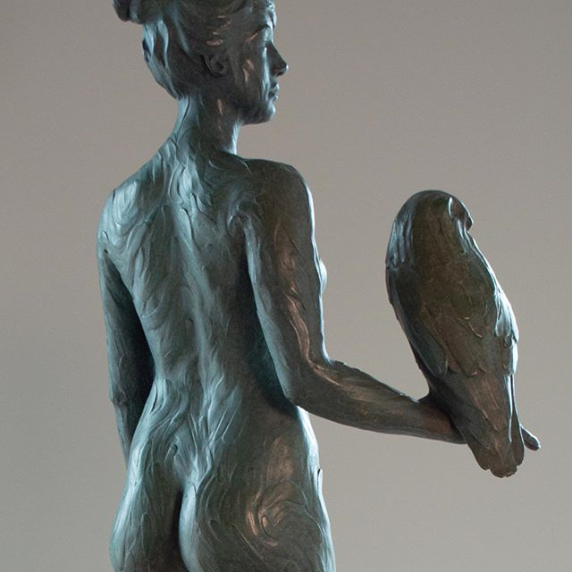 "Scroll through stack...One of my recent bronze sculptures, ""Athena""... I depicted this #goddess embodied in her raw form. #naked without armor and spear but still holding #owlwisdom and symbol of slain #Medusa #snake in her hair, #olivebranches at her feet. #warrior #peacemaker #strongwoman #bravery #resourcefulness #daughterofzues #athena #athensgreece #greekmythology #bronzesculpture #sculpture #owl #enclavestudiosashland #ingernovajorgensen #claysculpture"