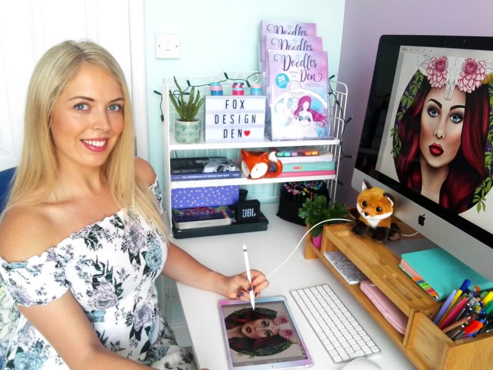 This is my cosy workspace where the doodling magic happens!
