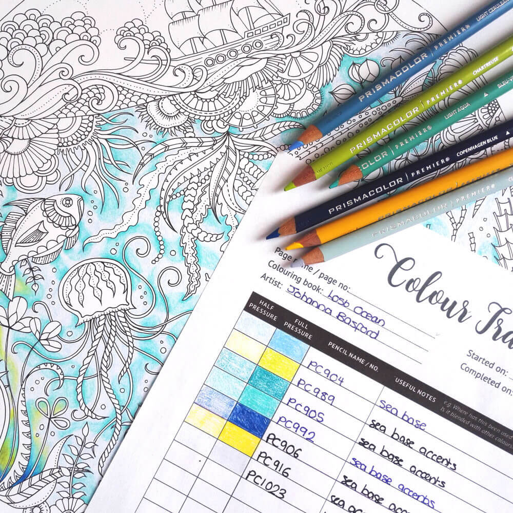 The  colour tracker  I created last year as a solution to one of my colouring bug bears!