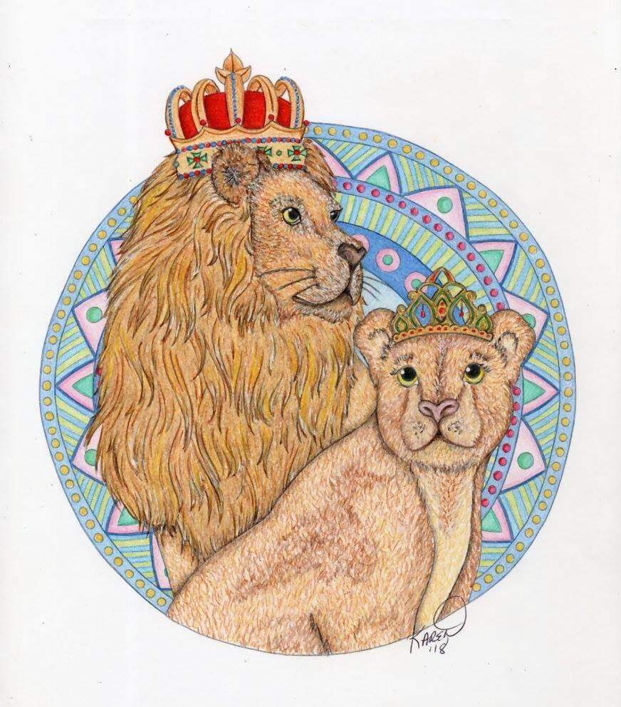 King and Queen , coloured by Karen Senerchia