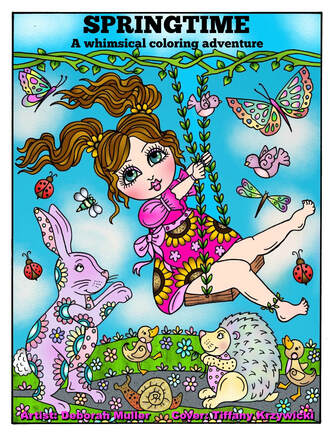 Get 20% off Deborah's latest colouring book release 'Springtime: A whimsical coloring adventure' when you use promo code CHUBBYMERMAID20 in her Etsy store at checkout.  Buy this book on Etsy .
