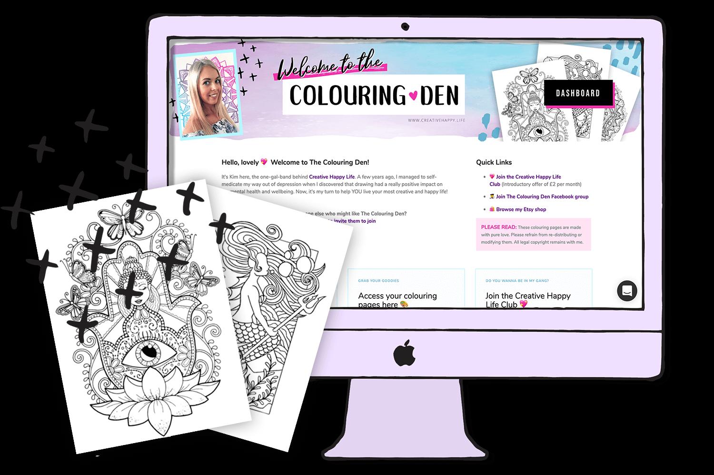 the colouring den hub -