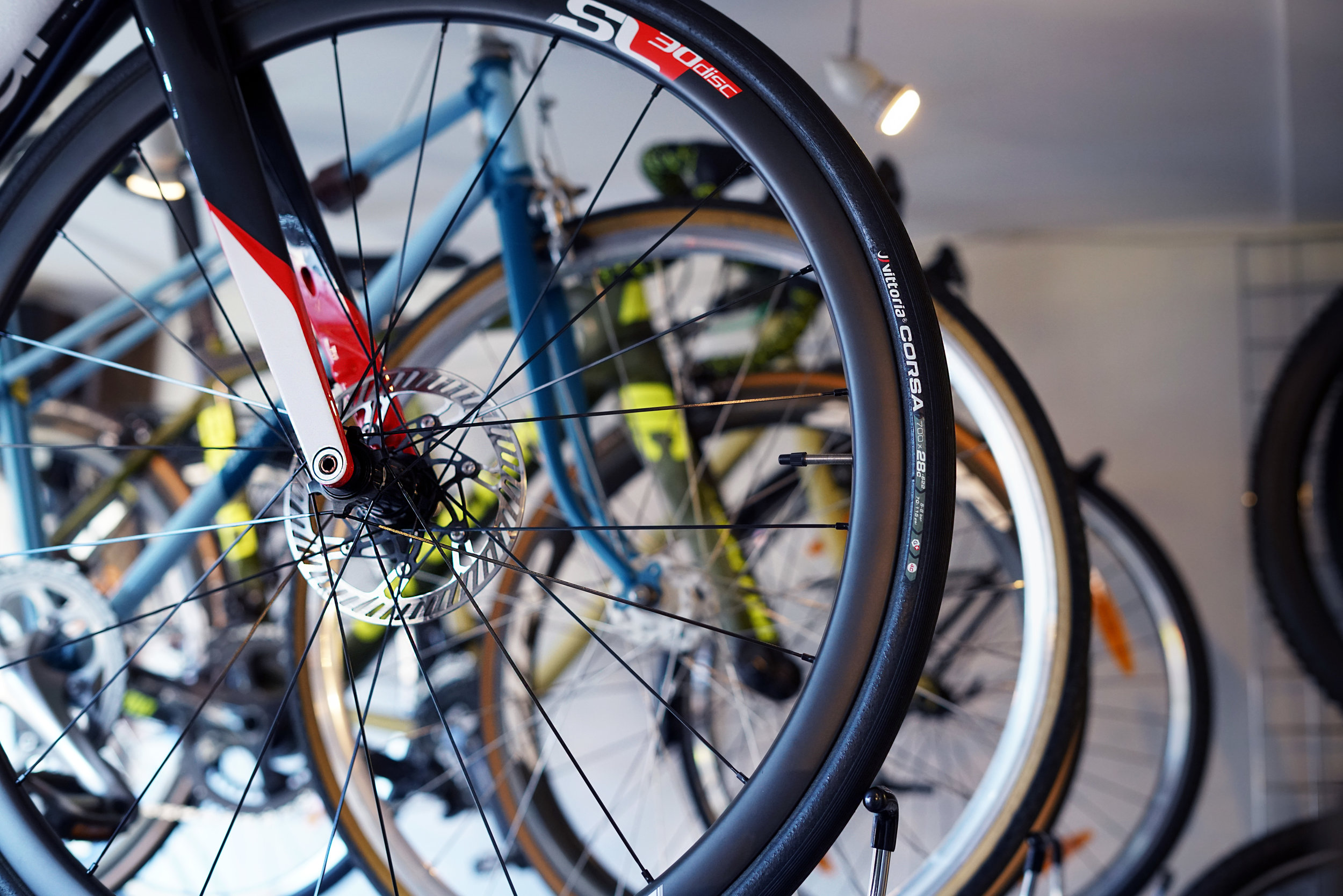 Bike service - We get asked all the time, what kind of stuff do we do, and really we service pretty much everything. All types of road bikes, mountain bikes, kids bikes, cheap bikes, really expensive bikes, heaps to ride to work on, or a much loved classic.