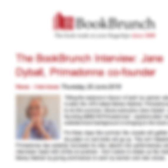 The BookBrunch Interview: Jane Dyball -