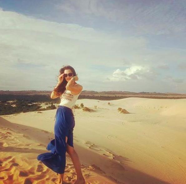 Me in the Vietnamese desert post rain