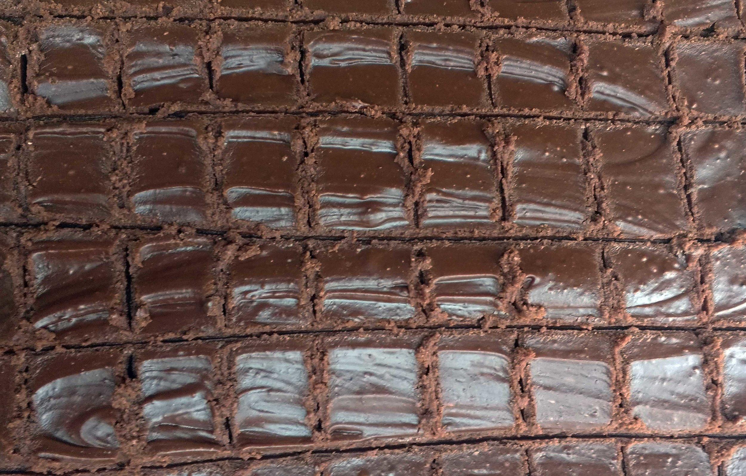 Perfectly textured rich dark chocolate fudge