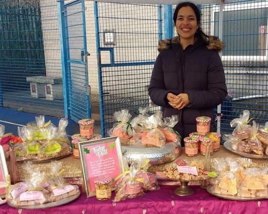 Christmas at Penarth farmers' market, December 2019