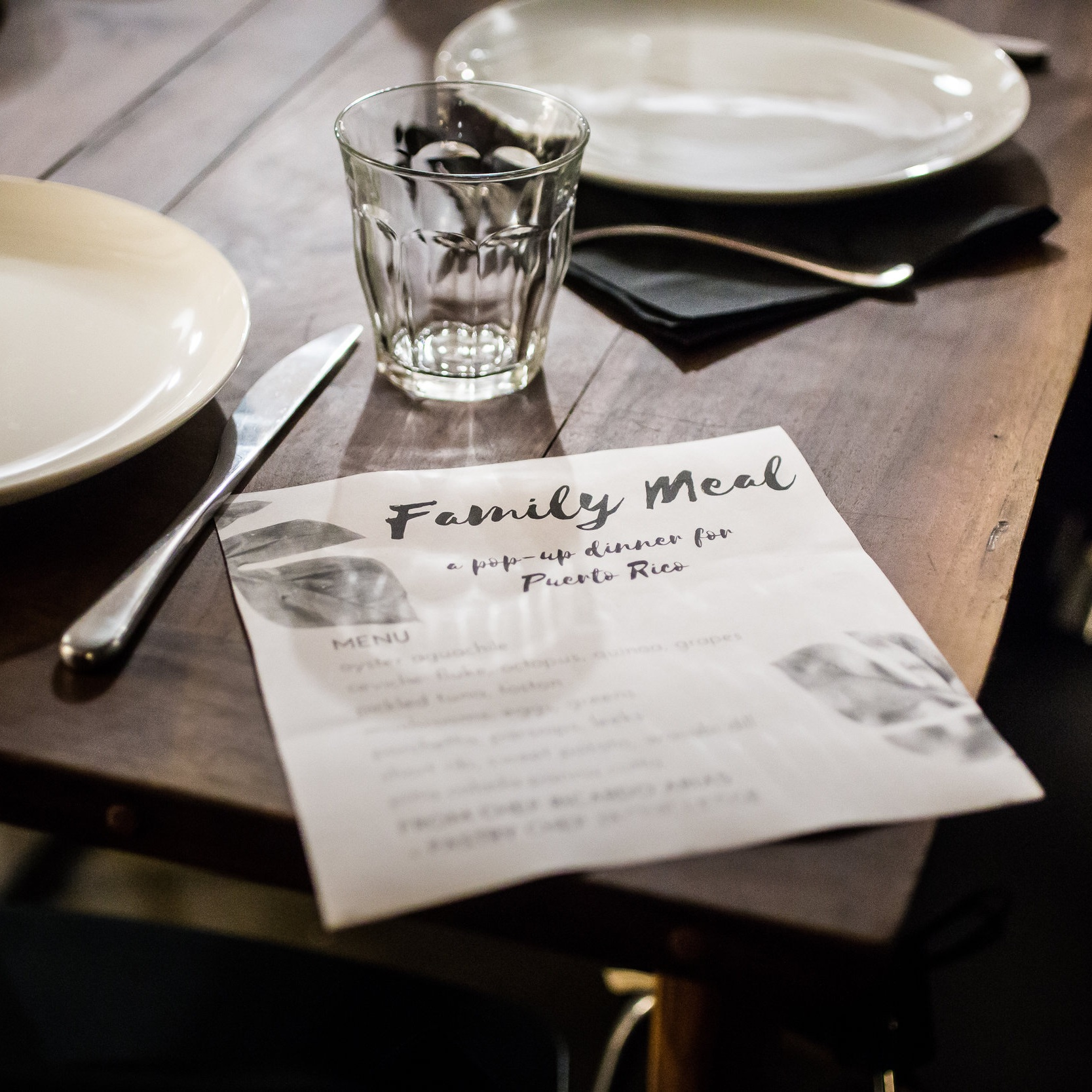 Family Meal: a pop-up dinner for Puerto Rico after Hurricane Maria   Event Production + Promotion   photo by Briana Balducci