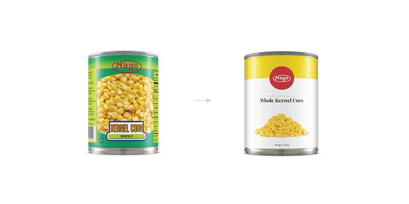 Redesign of Nago's canned products