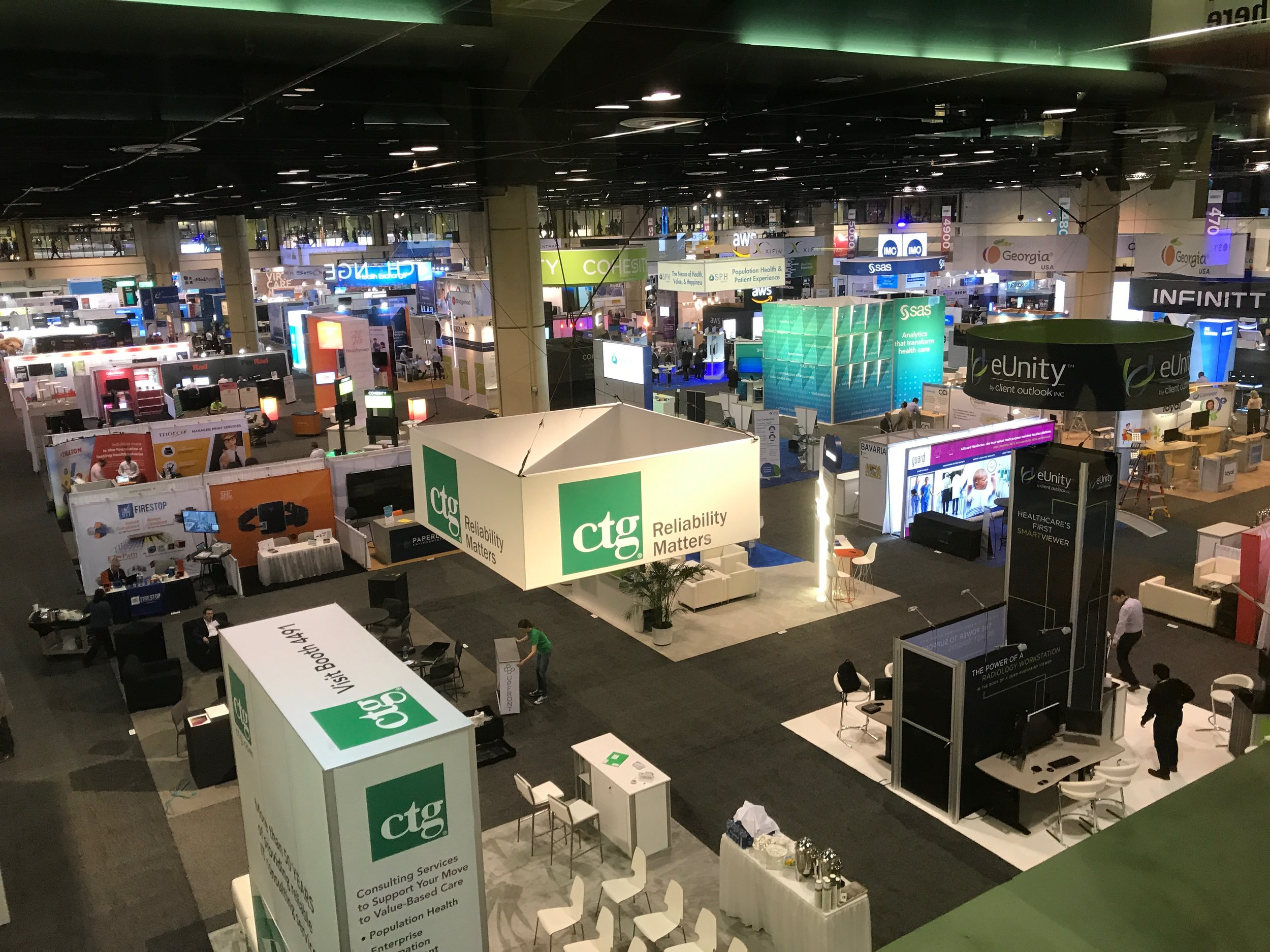 A small portion of the exhibit floor